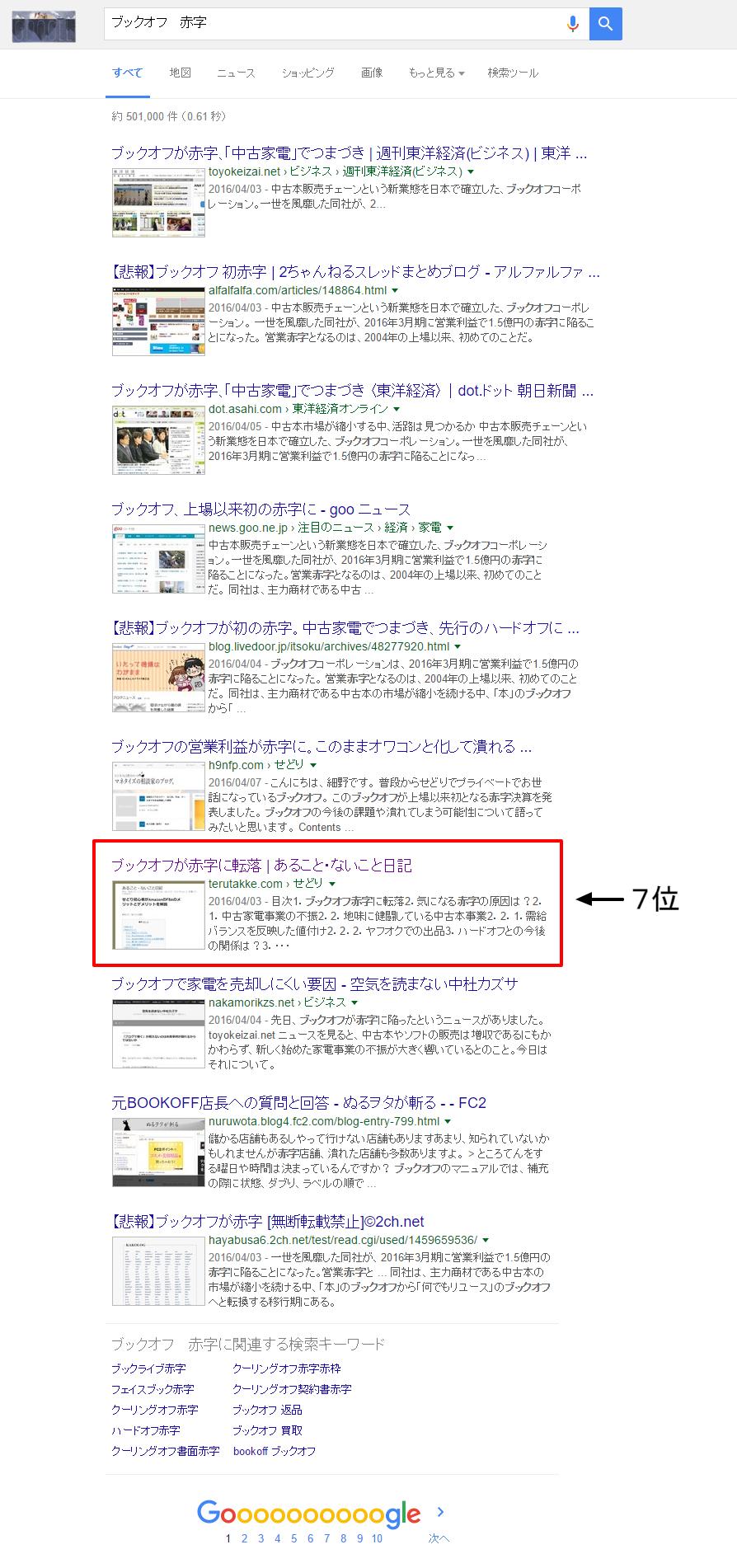 ブックオフ 赤字   Google 検索