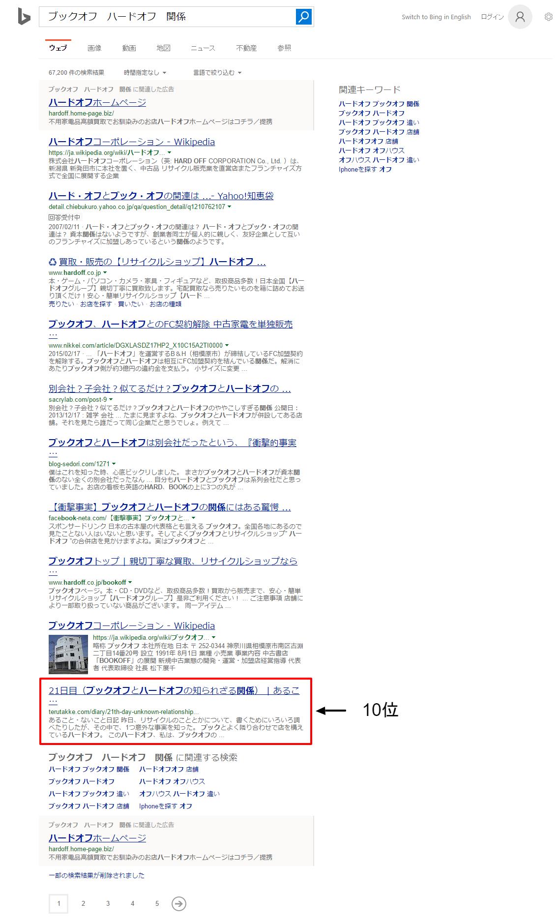 ブックオフ ハードオフ 関係   Bing