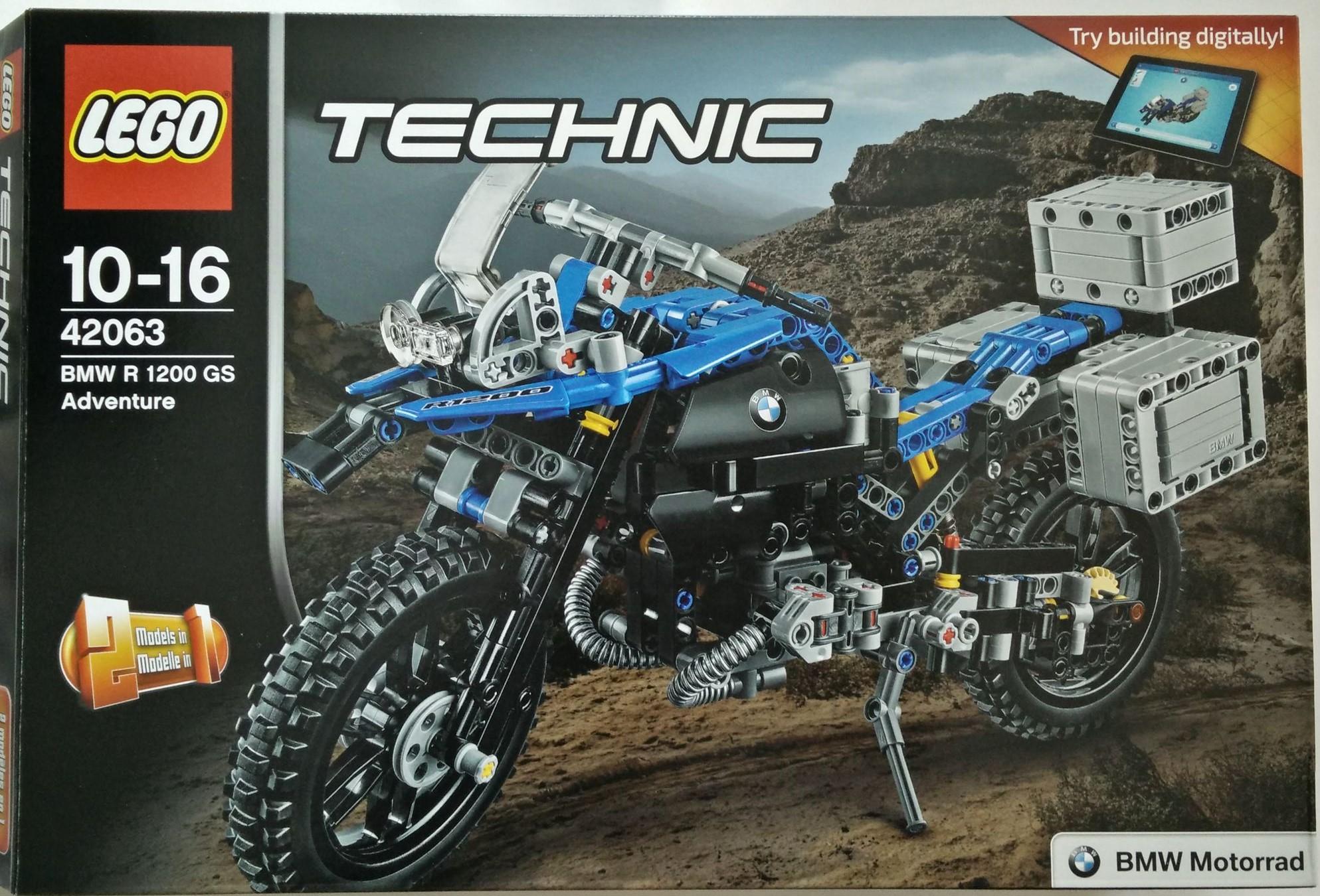 レゴ (LEGO)テクニック 「BMW R 1200 GS アドベンチャー (42063)」のレビュー