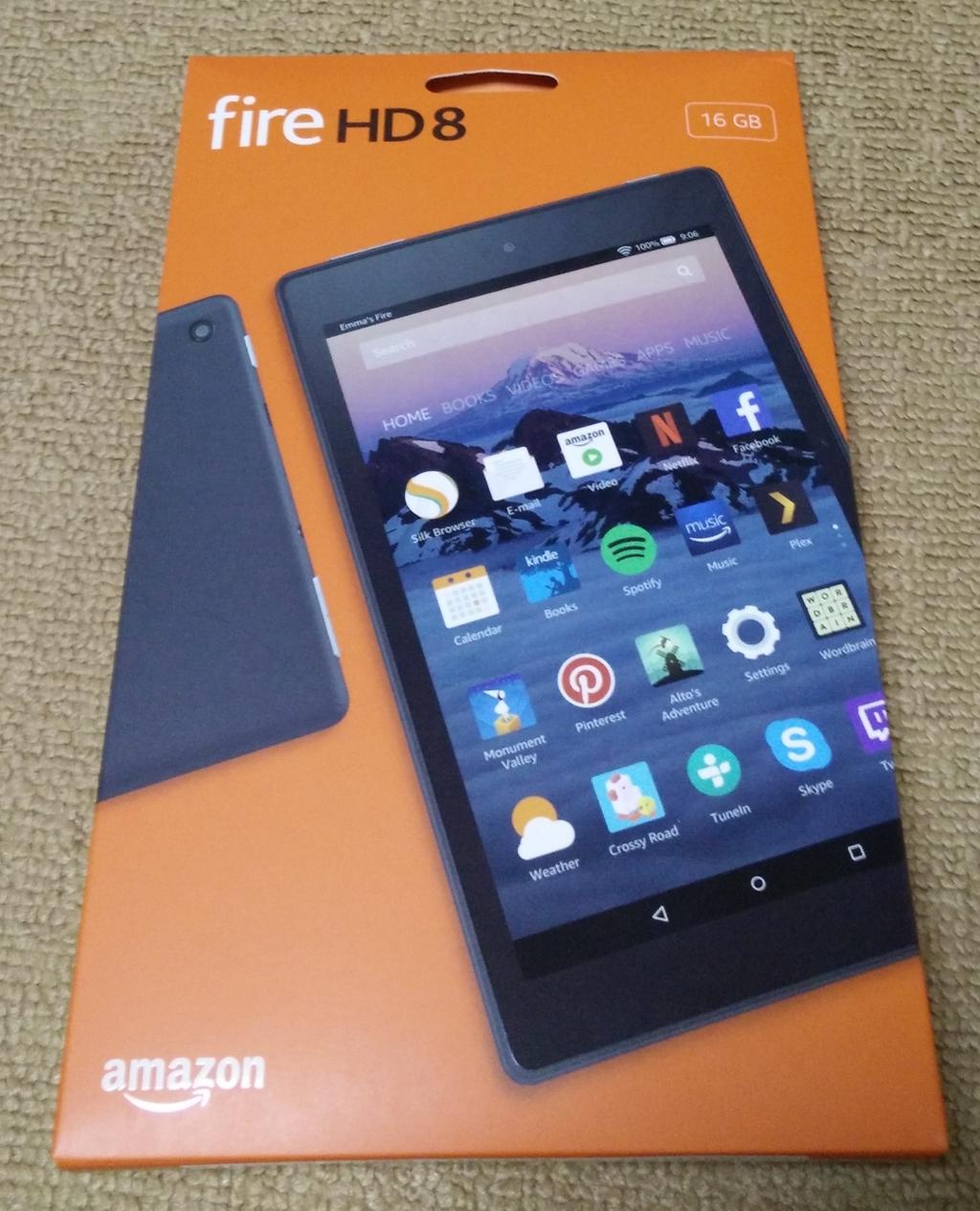Amazonの「Fire HD 8 タブレット」を買ったので、軽くレビュー