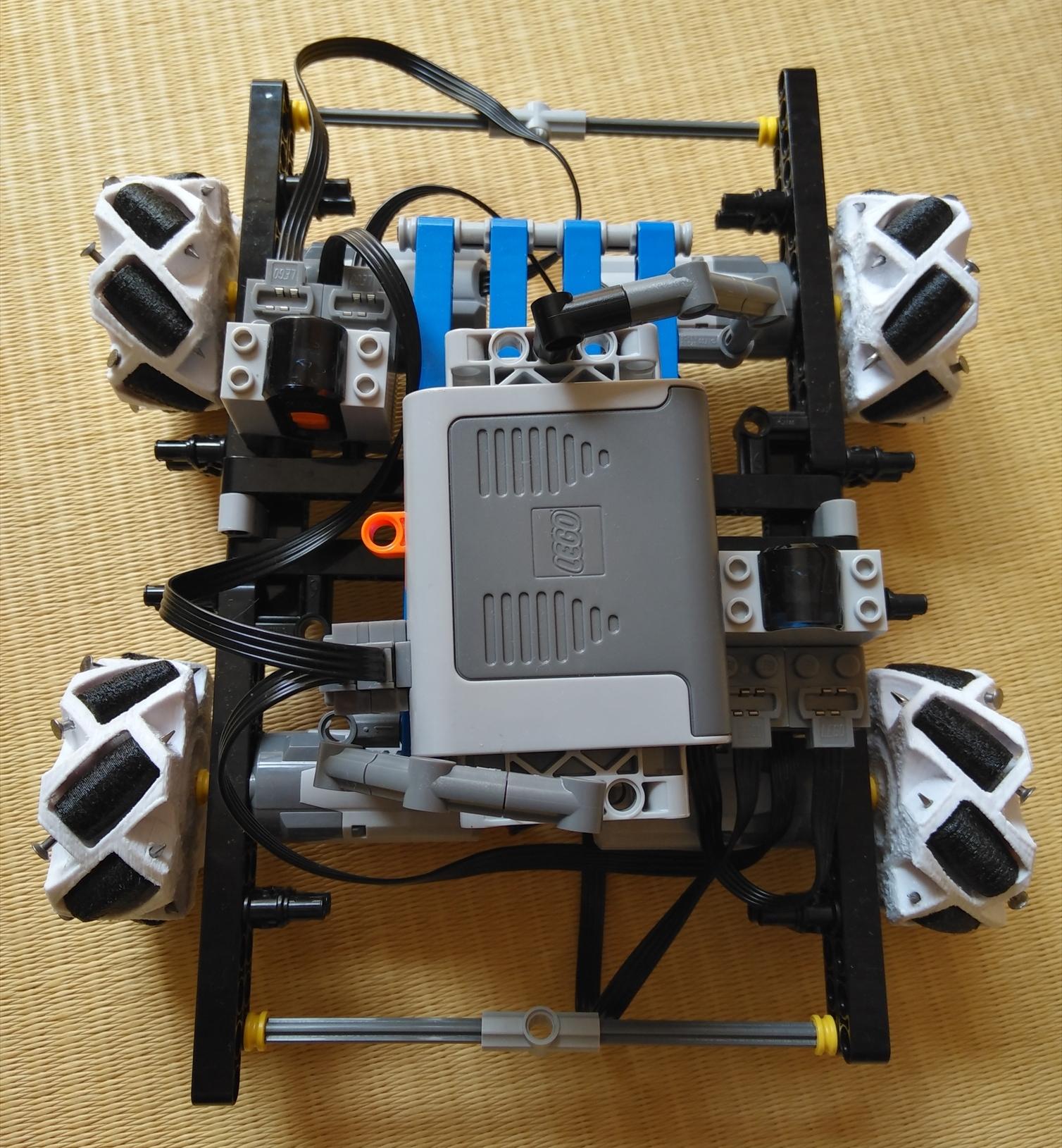 3Dプリンターでレゴ(LEGO)用メカナムホイールを作った