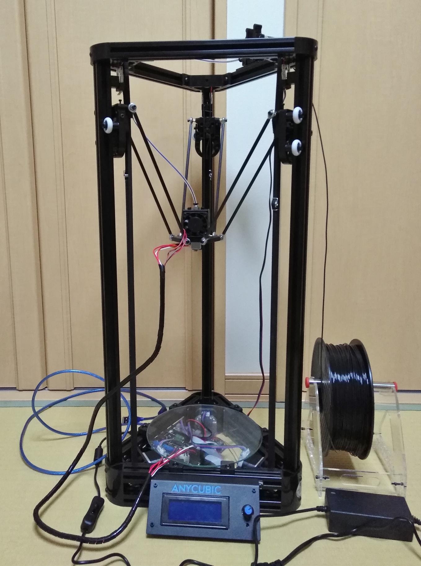 デルタ型3Dプリンター 「Anycubic Kossel」のレビュー(テストプリント編)