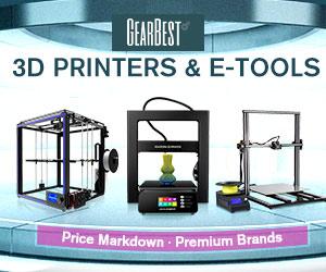 【GearBestセール情報】3Dプリンタ、工具等