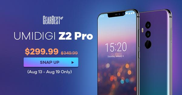 【GearBest】「UMIDIGI Z2 PRO」(スマホ)セール情報