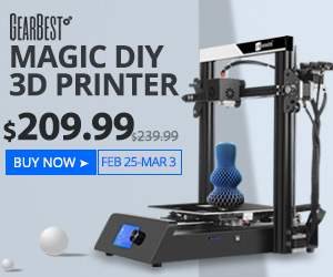 【GearBest】JGAURORA Magic 3D Printer(3Dプリンター)の特価情報