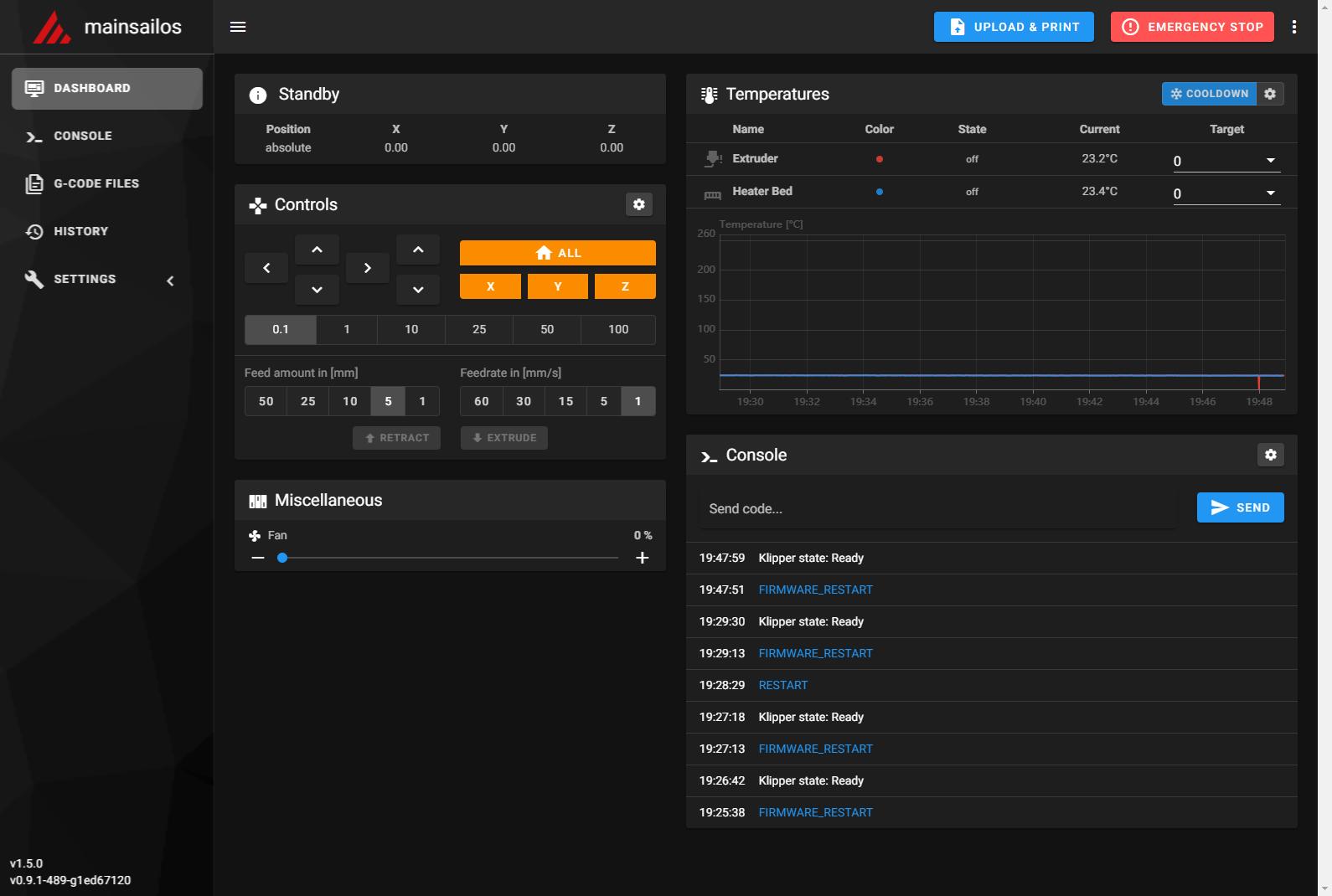 【3Dプリンタ】Ender-3 ProにKlipperファームウェアを導入した – MainsailOS編