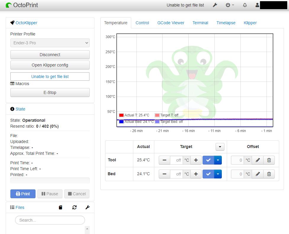 【3Dプリンタ】Ender-3 ProにKlipperファームウェアを導入した – OctoPi+Klipper編